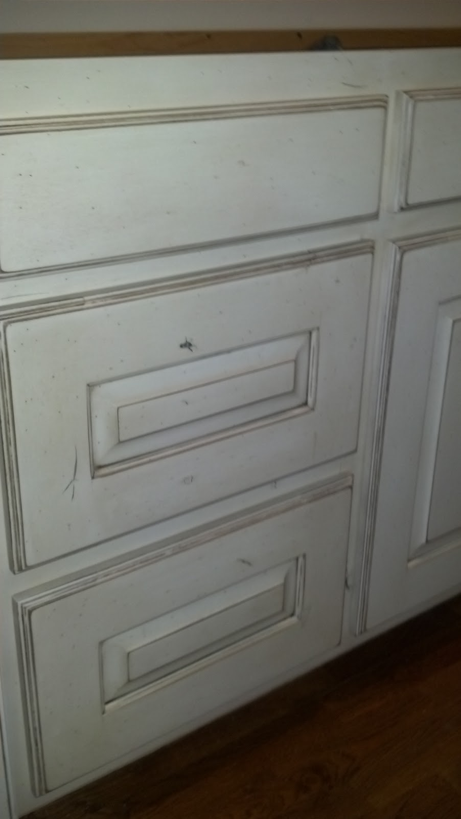 Adkisson S Cabinets White Painted And Distressed Knotty