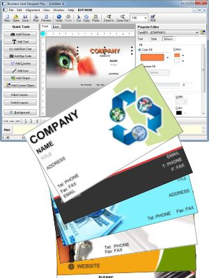 Business card designer plus 12050 design print professional software to make your own business cards reheart Image collections