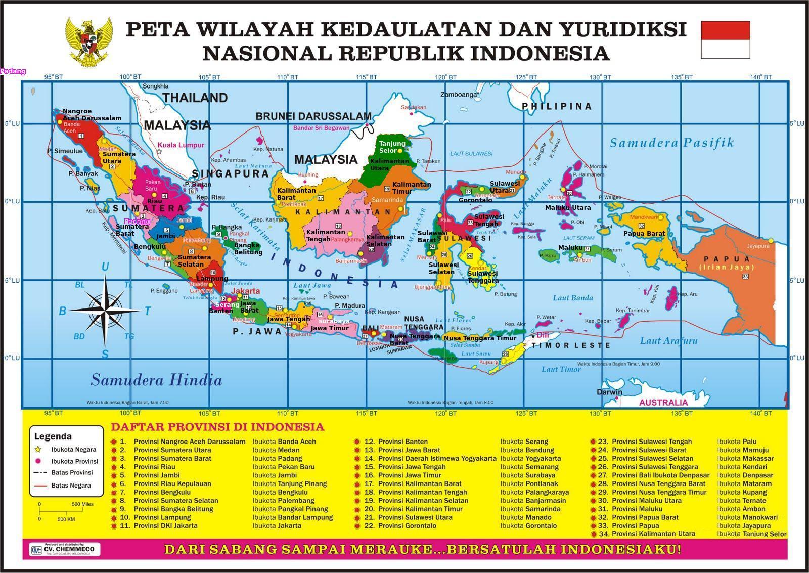 Daftar 43 Provinsi di Indonesia