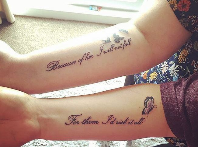 50 meaningful mother daughter tattoos ideas 2017 for Matching tattoos for mother and daughter quotes