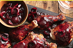 Barbecued Chicken Pieces With Cherry Chipotle Glaze
