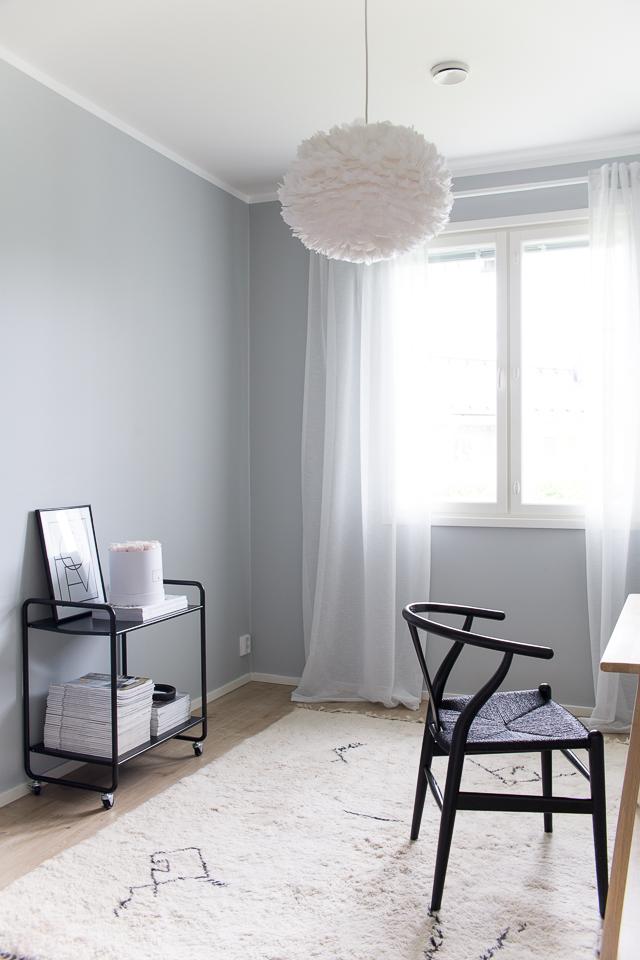 beni ouarain matto, villa h, työhuone, työhuoneen sisustus, y-tuoli