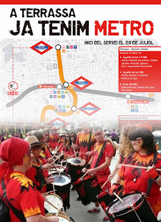 Bitxo a la inauguració del Metro de Terrassa