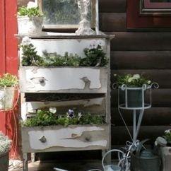 Dresser Planters Old Drawers