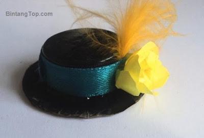 cara membuat topi dari tutup botol
