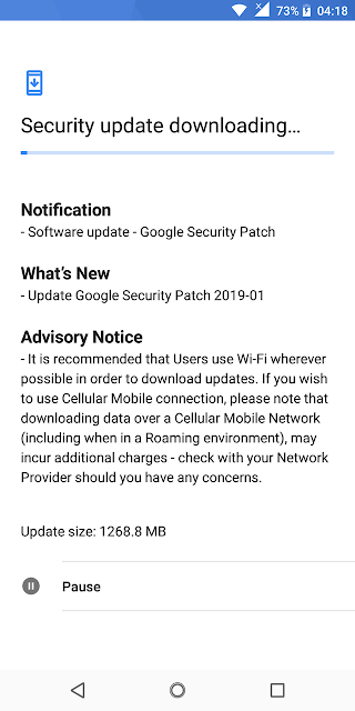 Nokia 5.1 January 2019 Android Security patch