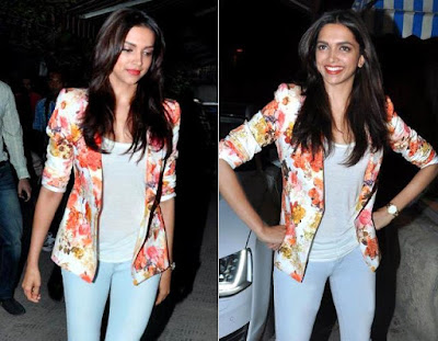 Best Jackets Donned By Deepika Padukone floral