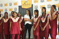 Actress Priya Anand in T Shirt with Students of Shiksha Movement Events 42.jpg