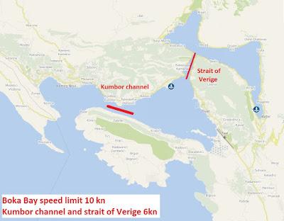 Kumbor channel and strait of Verige