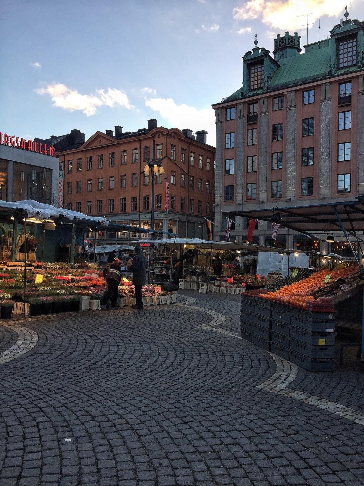 Travel diary stockholm sweden public market Haymarket