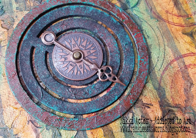 Canvas with Seth Apter Loop de Loop die - by Nikki Acton