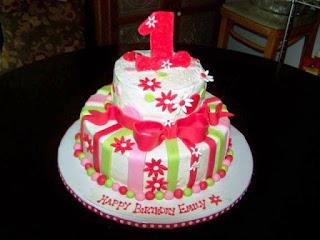 Inspirasi kue ulang tahun pertama anak lucu banget