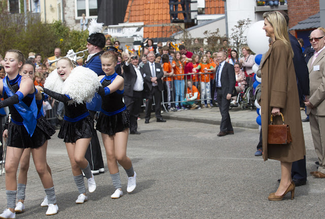 Crown Princess Maxima visited Show Band  in Hoorn