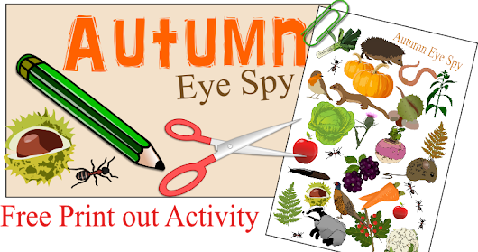 Autumn Eye Spy - Free Childrens Activity Print