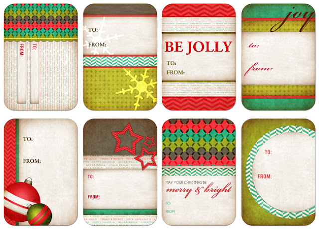 Christmas gift tags free printables