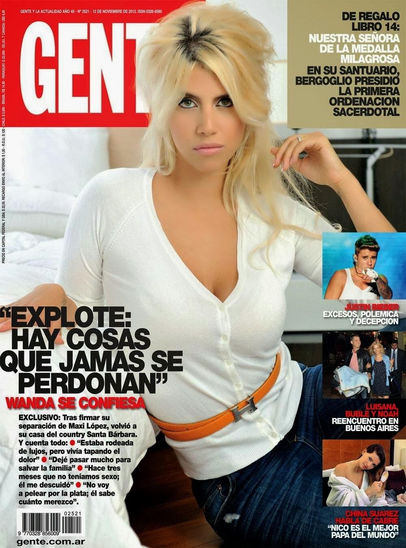 Wanda Nara Magazine Photoshoot For Gente Magazine Argentina