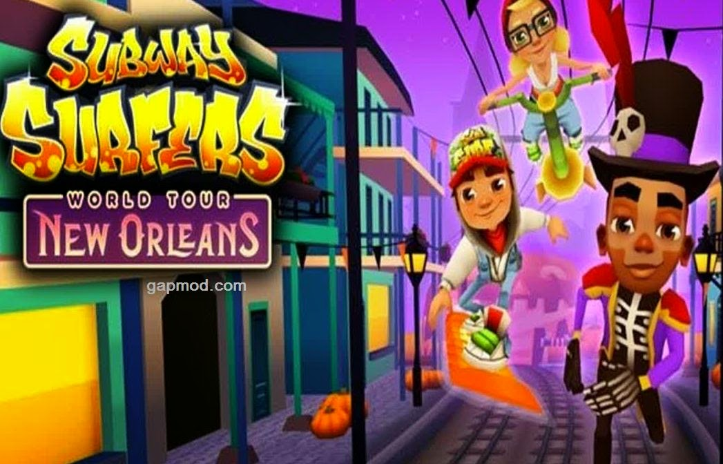 Download Subway Surfers New Orleans Mod Apk v1.30.0 Unlimited Coins and Keys