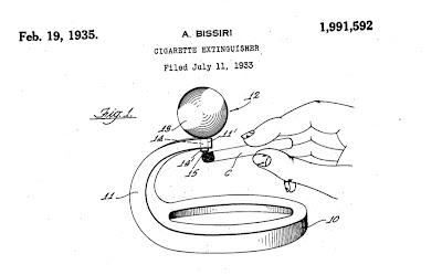 cigarette extinguisher Bissiri patent 1933.jpg