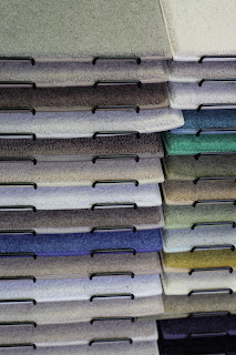 Carpet samples in variety of colors