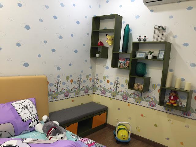 Phòng ngủ tại căn hộ mẫu Eco Lake View