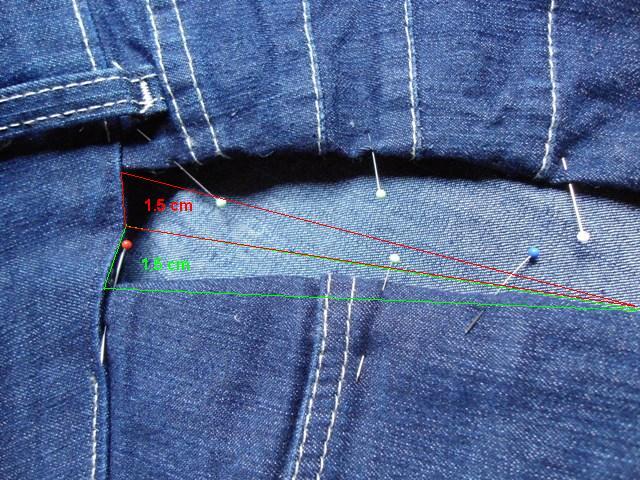 Engordou então aprenda a alargar suas calças