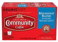 community coffee breakfast blend kcups