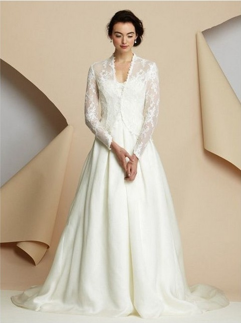 Rainingblossoms Fall S Look Wedding Gown With Jacket