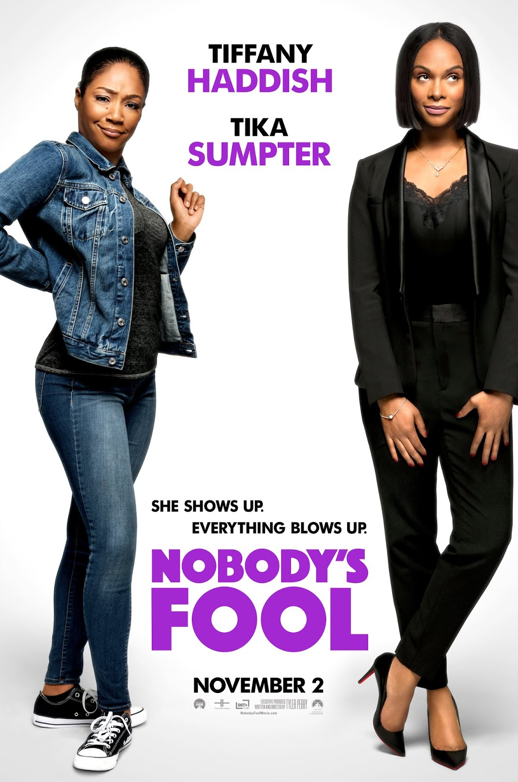 57299e49916 Trying to get back on her feet, wild child Tanya (Tiffany Haddish) looks to  her buttoned-up, by the book sister Danica (Tika Sumpter) to help her get  back ...