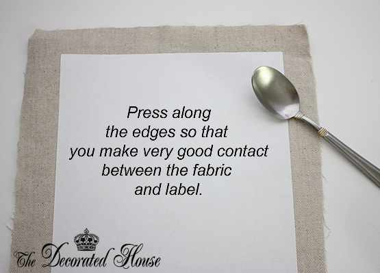 How to Print on Fabric ~ The Decorated House