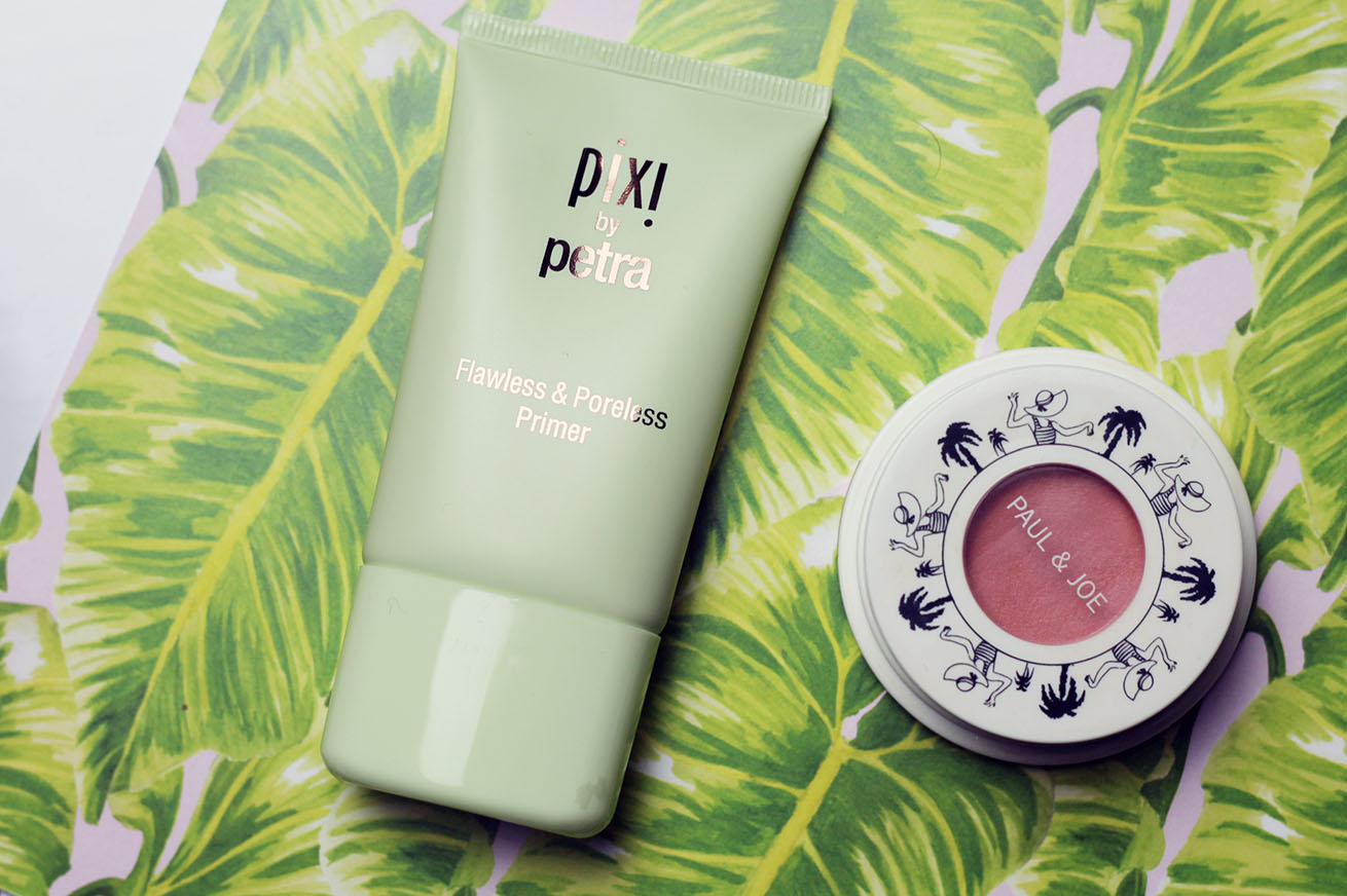 pix by Petra flawless and poreless primer and Paul and Joe creme blush