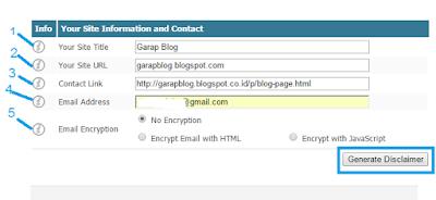 Cara Sederhana Membuat Disclaimer untuk Blog