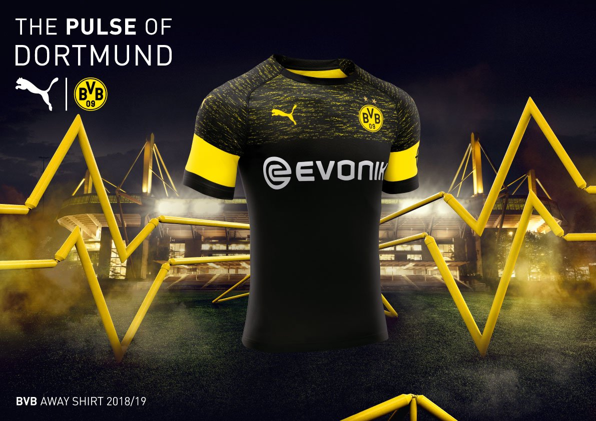 322a7f1b8 The Borussia Dortmund 18-19 away kit is now available to buy following  yesterday's reveal.