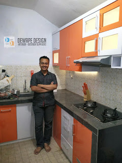 kitchen set minimalis warna orange malang