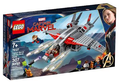 LEGO Super Heroes 76127 Capitana Marvel: Ataque de los Skrulls Captain Marvel and The Skrull Attack  Producto Oficial Película 2019 | Piezas: 307 | Edad: +7 años  COMPRAR JUGUETE
