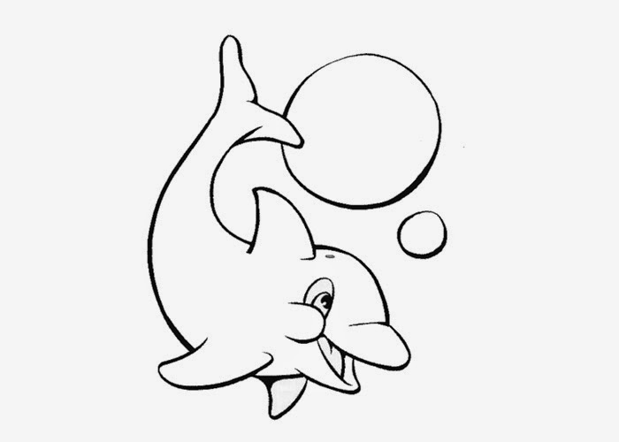 Free Coloring Pages And Coloring Books For Kids Baby Dolphin