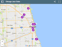 Chicago Jazz Clubs map