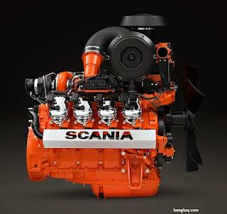 mesin diesel milik scania