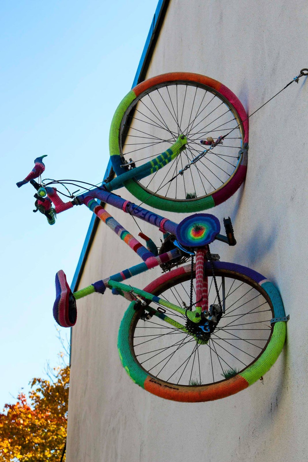 ufa fabrik bike on wall