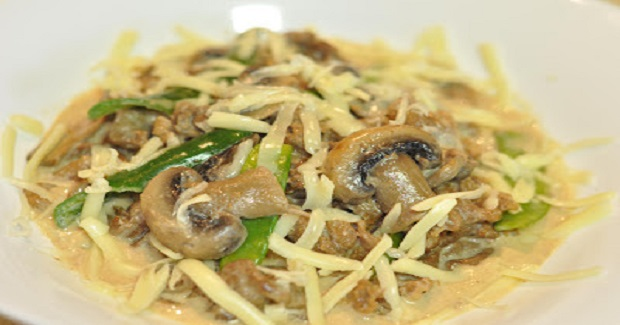 Cheesy Beef And Mushroom Recipe