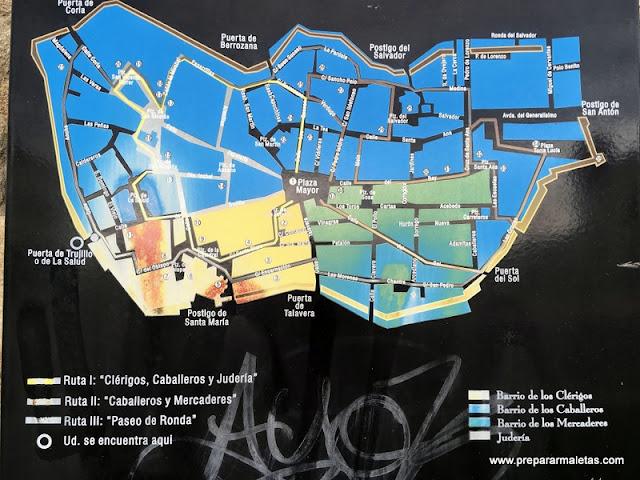 mapa turístico de Plasencia