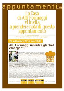 Alti formaggi incontra gli chef emergenti 26 settembre Treviglio (BG)