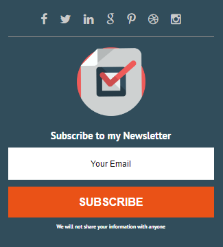 Subscribe box widget sidebar new blogger