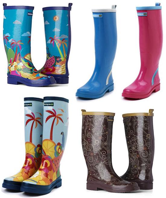 190e84f8266 São oito botas de borracha ideais para enfrentar o frio e as chuvas a  estamparia colorida que tem tudo a ver com a nossa moda.