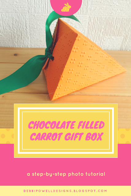 Step by step photo tutorial chocolate filled carrot gift box