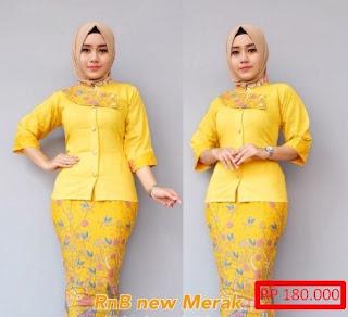 Setelan Baju Batik Cantik Kombinasi Terbaru