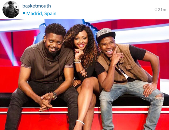 Basketmouth de comedian, Boity Thulo & Thomas Gumede in host MTV Ridiculousness Africa