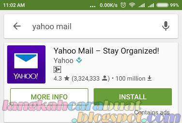 Cara Membuat Email Yahoo Baru Melalui HP