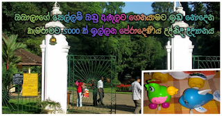 Peradeniya Botanical Gardens which enforce regulations prohibiting babies' toys being carried inside -- 5000 being levied for the camera!