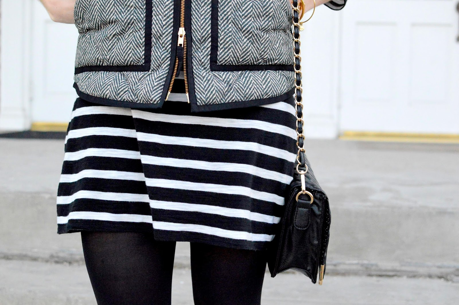 stripes with herringbone