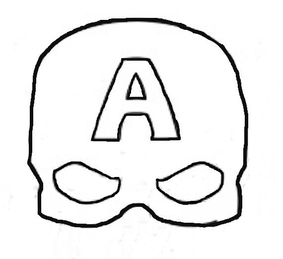 httpwwwpour imprimercommasquesa decouperpage 125 - Masque Captain America